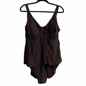 Merida Brown One Piece Swimsuit 24W